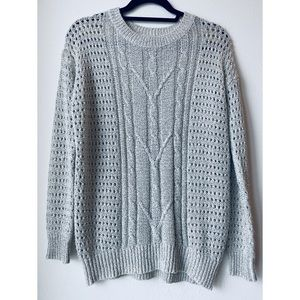 Oversized open knit sweater